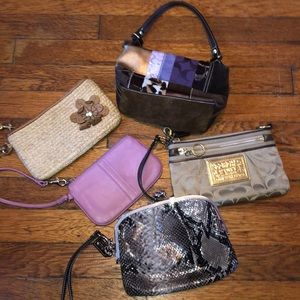 Coach wristlet wallet mini purse lot of 5 bundle